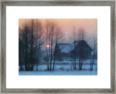 Hazy Winter Morning Framed Print by Anthony Caruso