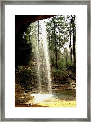 Hcking Hills Waterfall Framed Print by Inga Smith
