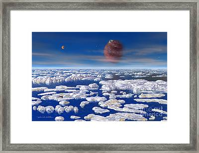 Hd 168443 C And Moons Framed Print by Lynette Cook