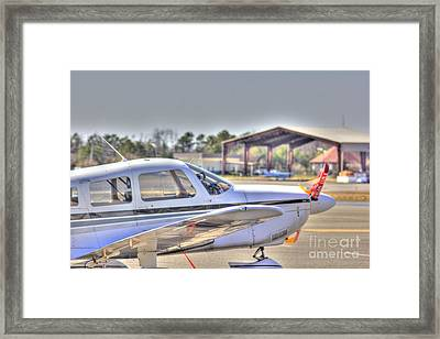 Hdr Airplane Looks Plane From Afar Under Canopy Framed Print
