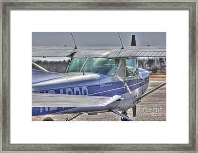 Hdr Airplane Single Prop Engine Framed Print