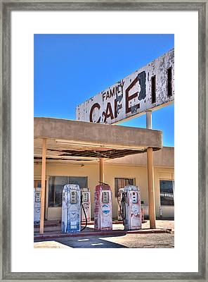 Hdr Family Cafe Framed Print by Matthew Bamberg
