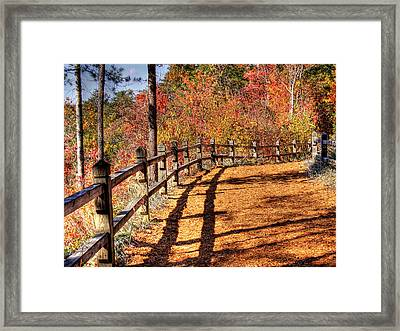 Hdr- Fenced Path Framed Print