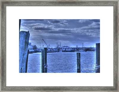 Hdr Fishing Boat Across The Jetty Framed Print by Pictures HDR