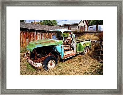 Hdr Old Truck Framed Print by Joe Myeress