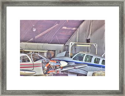 Hdr Planes Being Fixed Framed Print