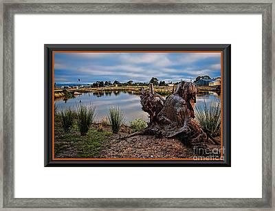 Hdr-wetlands Framed Print