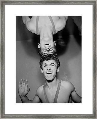 He Ain't Heavy Framed Print by John Drysdale