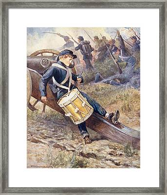 He Crawled Behind A Cannon And Pale And Paler Grew Framed Print by William Henry Charles Groome