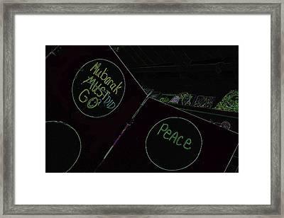 Framed Print featuring the photograph He Did Go by Carolina Liechtenstein