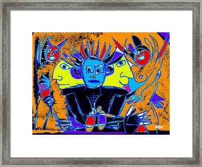He Felt One With The Universe Framed Print