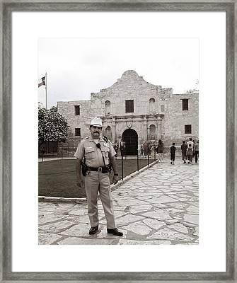 He Guards The Alamo Framed Print