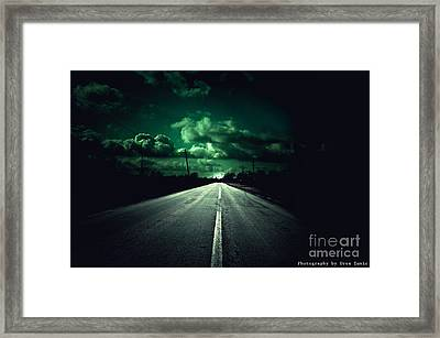 He Is Waiting Framed Print by Uros Zunic