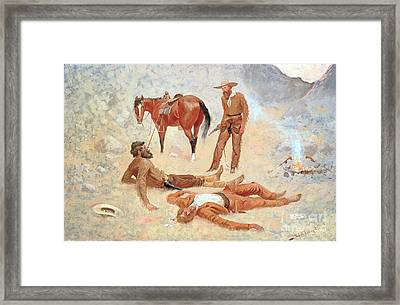 He Lay Where He Had Been Jerked Still As A Log  Framed Print