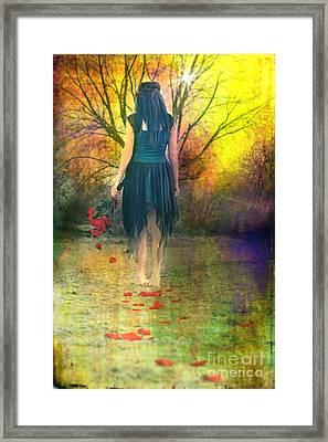 He Loves Me Not Framed Print by Cindy Singleton