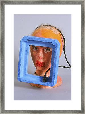 Head 4 Framed Print by Iris Gill