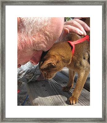 Head Bumps Framed Print by Carol McCutcheon