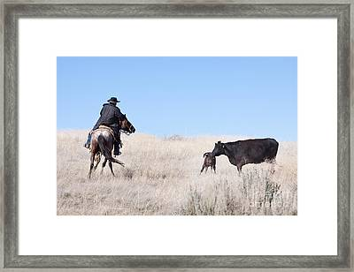 Head 'em Up Framed Print by Cindy Singleton