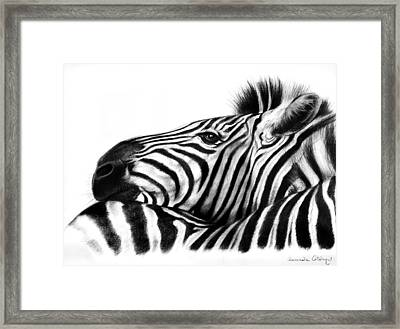 Head Rest Framed Print by Lucinda Coldrey