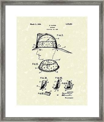 Headgear 1925 Patent Art Framed Print