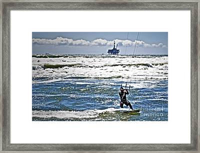 Heading Back Out Framed Print by Gwyn Newcombe