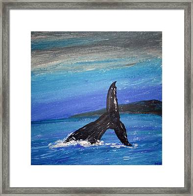 Framed Print featuring the painting Heading For The Deep by Martin Blakeley