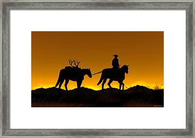 Framed Print featuring the digital art Heading Home by Walter Colvin