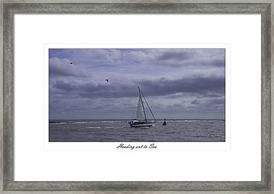 Heading Out To Sea Framed Print by Nigel Jones