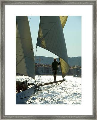 Heading To Port Framed Print by Lainie Wrightson
