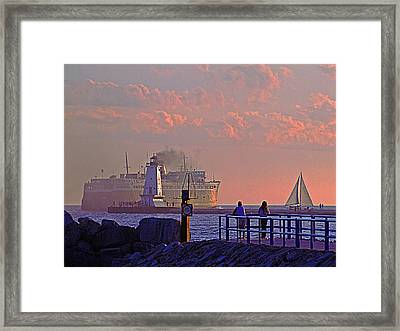 Heading West Framed Print
