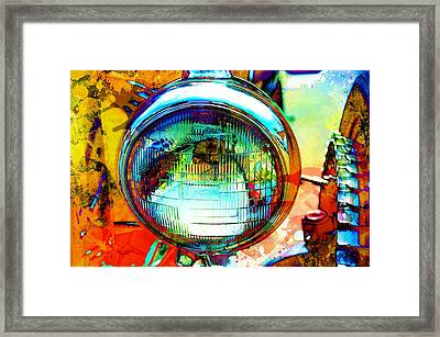 Headlight Classic Framed Print by Anthony George