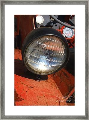Headlight Framed Print by Gail Salitui