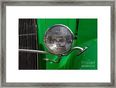 Headlight Framed Print by Vivian Christopher