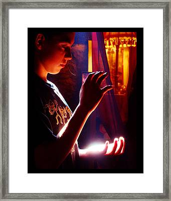 Framed Print featuring the photograph Healing Hands by Susanne Still