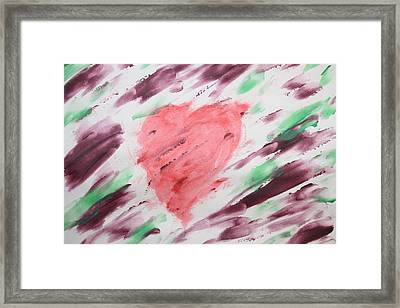 Healing Heart Framed Print by Devon Stewart