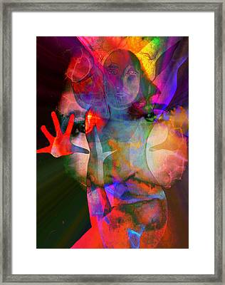 Framed Print featuring the painting Healing Magdalene by Susan  Solak