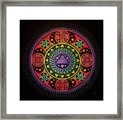 Meditation On Healing From Within Framed Print by Janelle Schneider