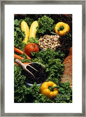 Healthy Foods Framed Print by Photo Researchers