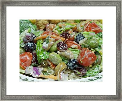 Healthy Salad 1 Framed Print by Renee Trenholm