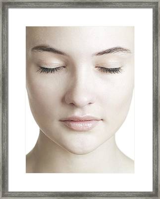 Healthy Woman's Face Framed Print by