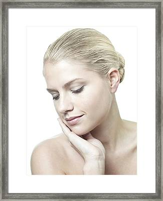 Healthy Young Woman Framed Print by