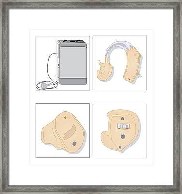 Hearing Aids, Artwork Framed Print by Peter Gardiner