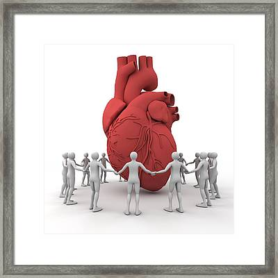 Heart Care, Conceptual Image Framed Print by Pasieka