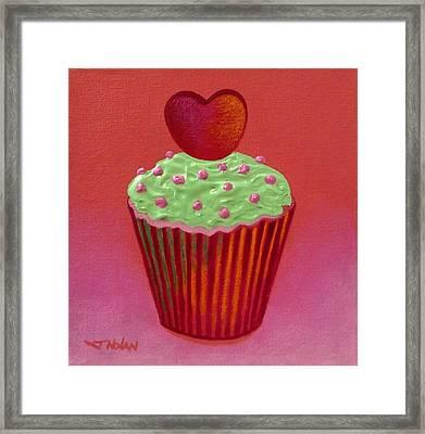 Heart Cupcake  Framed Print