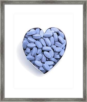 Heart Drugs, Conceptual Image Framed Print