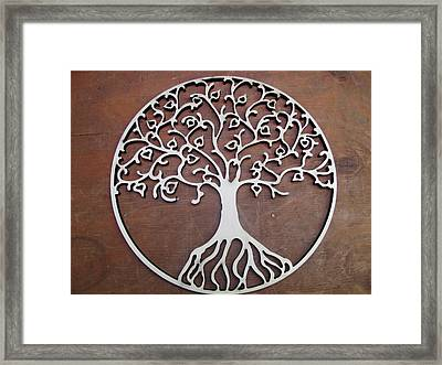 Heart-fruit Tree Framed Print by Keith Cichlar