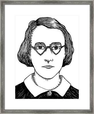 Heart Glasses Framed Print by Karl Addison
