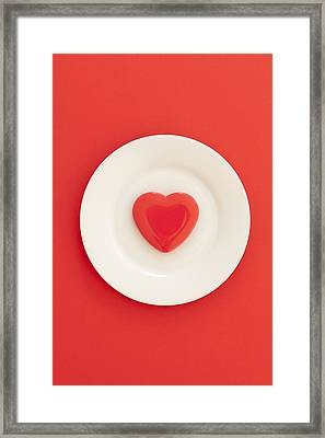 Heart Healthy Diet, Conceptual Image Framed Print by Ian Hooton