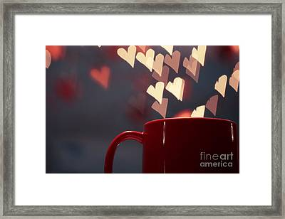 Heart In My Cup Of Coffee Framed Print