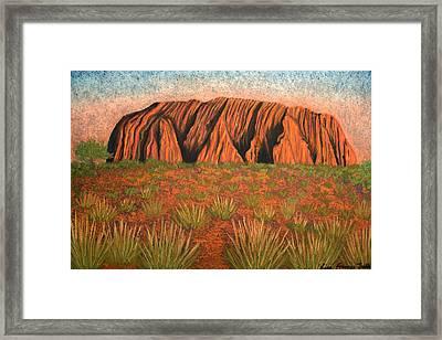 Heart Of Australia Framed Print by Lisa Frances Judd